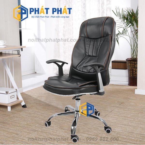 Một số mẫu ghế xoay da cao cấp có thiết kế hiện đại nhất hiện nay - Ghế Xoay Ngả Da GX08