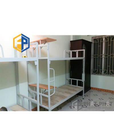 Giường Tầng Sắt Có Bàn GTB01