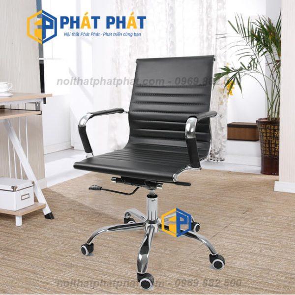 Địa chỉ cung cấp ghế xoay nhân viên giá rẻ tại Hà Nội - Ghế Xoay Da GL214T