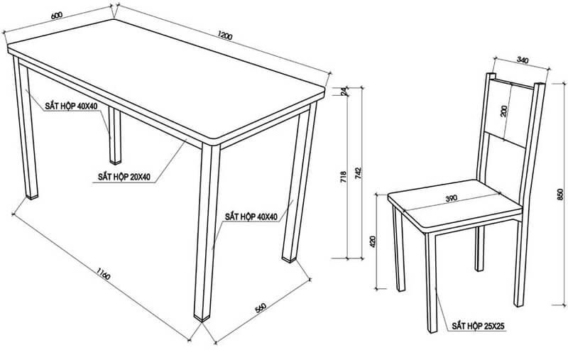 Những tiêu chuẩn kích thước của bàn làm việc văn phòng