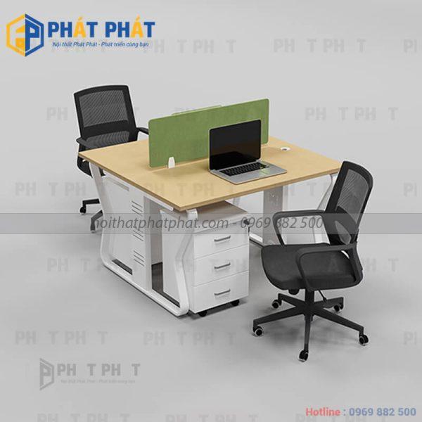 Một số mẫu bàn văn phòng có vách ngăn ưa dùng hiện nay - 1