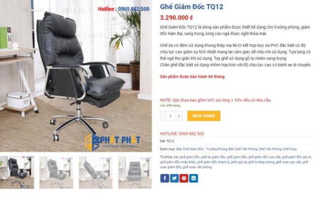 Ghế xoay lưng cao giá rẻ, đẹp và chất lượng cao - 6