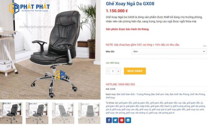 Ghế xoay lưng cao giá rẻ, đẹp và chất lượng cao - 5