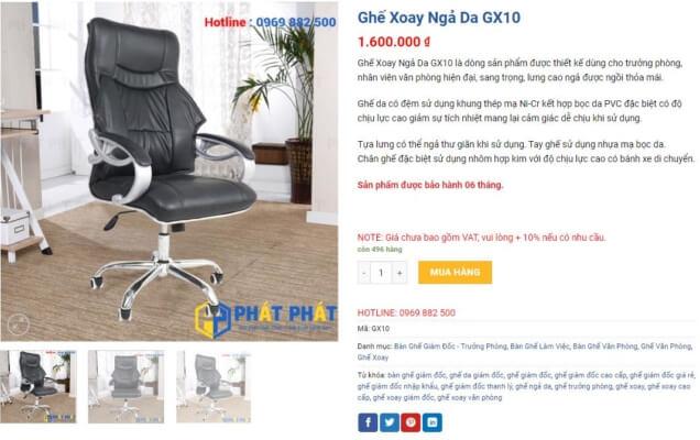 Ghế xoay lưng cao giá rẻ, đẹp và chất lượng cao - 7